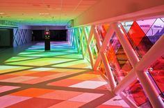 Amazing Rainbow Pathway at Miami International Airport by Christopher Janney