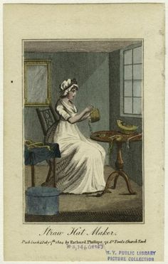 The Straw Hat Maker, 1804, NYPL.