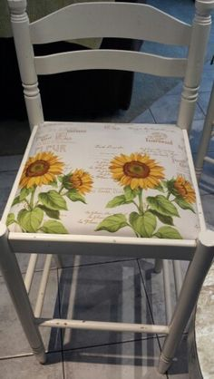 Sunflower Curtains to Recover Barstools