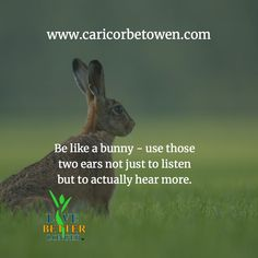 Be like a bunny - use those two ears not just to listen but to actually hear more. Natural Health, The Secret, Ears, Bunny, Humor, Movie Posters, Film Poster, Hare, Humour