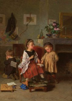 The Stern Teacher, Theophile-Emmanuel Duverger. French (1821-1901)