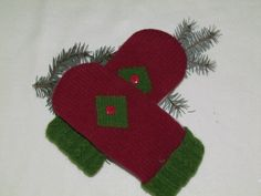 Holiday Mittens by GAGAMITZ. $23.00, via Etsy.