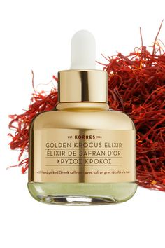 Greek saffron derived from the village of Krocus is often touted as one of the most expensive spices in the world—more precious than gold. As an anti-ager, this ingredient delivers antioxidants, peptides, and amino acids that makes skin more resilient. Also in this golden serum, copper and polysaccharides help build collagen and hyaluronic acid to hydrate and plump. Apply morning and night after cleanser but before moisturizer or sunscreen.Korres Golden Krocus Ageless Saffron Elixir Serum…