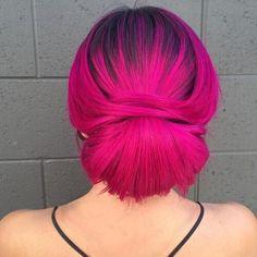 #Kurzfrisur Frau 2018 50 Magenta Haarfarbe Ideen für mutige Frauen #50 #Magenta #Haarfarbe #Ideen #für #mutige #Frauen