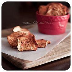 Sprinkled with Flour: Baked Cinnamon Apple Chips  www.sprinklewithf...