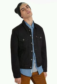 Levis Denim Trucker Jacket Black Rock'n'Roll Skinny Fit Urban Outfitters Size M in Clothes, Shoes & Accessories, Men's Clothing, Coats & Jackets | eBay