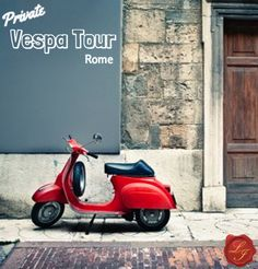 | Private Tour of Rome |  Your Roman Holiday dream come true! Ride on a Vespa through beautiful Rome, with a private guide to show you the highlights of the city! | LivItaly Tours |