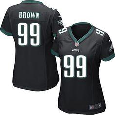 Nike Elite Jerome Brown Black Women's Jersey - Philadelphia Eagles #99 NFL Alternate