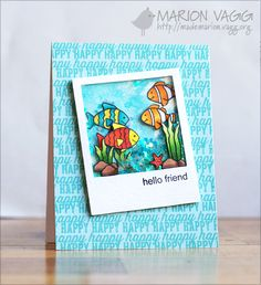 ♥: hello friend, love the polaroid die cut, I want to make a card like this, but simplified