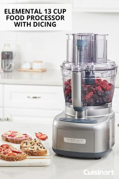 Cuisinart's Elemental 13 Cup Food Processor with Dicing can take on any food prep task! Puree berries for sweet breakfast toast or even chop nuts for healthy granola. Cuisinart's food processors can do it all! Breakfast Toast, Sweet Breakfast, Cuisinart Food Processor, Food Processor Recipes, Meal Prep, Food Prep, Stop Working, Small Appliances, Easy Meals