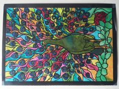 Elizabeth D age 9 (Under 12 division) from Tiffany Designs Stained Glass Coloring Book: http://store.doverpublications.com/048626792x.html