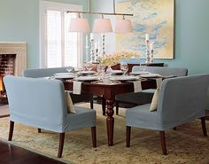 Exceptional Loveseats At The Dinner Table!