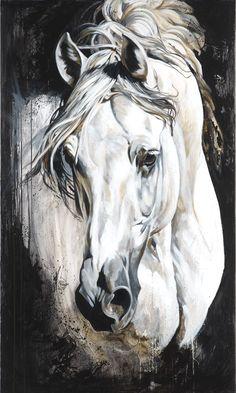 Reproductions giclées sur toile - giclée prints on canvas — Elise Genest Painted Horses, Pretty Horses, Beautiful Horses, Images D'art, Art Occidental, Horse Sketch, Watercolor Horse, Horse Artwork, Animal Paintings
