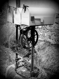 Mailboxes On Vintage Post