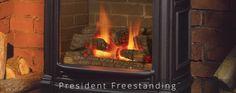 Valor President Freestanding Valor Fireplaces, Gas Fireplace, Presidents, Portrait, Living Room, Home Decor, Decoration Home, Room Decor, Men Portrait