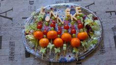 Good looking food I made for kidsparty, with name from cheese