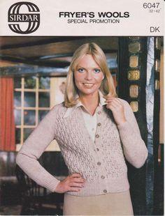 Vintage Knitting Pattern pdf. Women's 70's by NostalgicStyles
