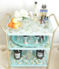 Since bar carts are tough to find at really affordable prices, this blogger decided to go the secondhand route, and it paid off!