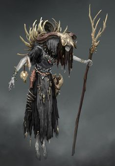 View an image titled 'Kidnapper Witch Art' in our God of War art gallery featuring official character designs, concept art, and promo pictures. Fantasy Character Design, Character Design Inspiration, Character Concept, Character Art, Dark Fantasy Art, Fantasy Artwork, Fantasy Witch, Arte Dark Souls, Estilo Tribal