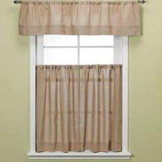 "Maison 36-Inch Kitchen Window Curtain Tiers In Linen 36"" Tier"