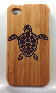 Sea Turtle Designed Natural Wood Bamboo Full Wrap Case by ULEKstore ONLY $24.95 Also available at ulekstore.com