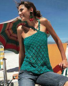 Patrones Crochet: Top Enganche Lateral al Cuello Patron