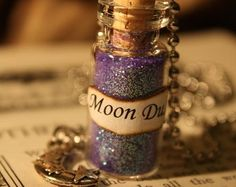 Moon Dust - Glass Vial Necklace - Moon Necklace