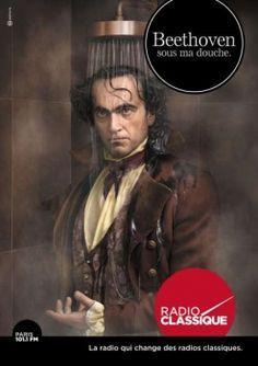 BDDP & Fils pour Radio Classique - radio, «Beethoven sous ma douche, Bach dans ma voiture» - novembre 2014 - Support print - Toutes les images