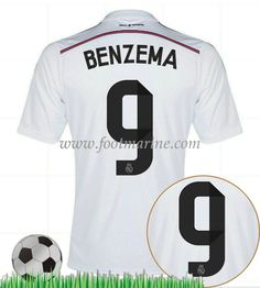 buy online 50085 6639d Real Madrid Home Jersey (Official Adidas) with Benzema 9 - Size Small