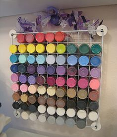 www.craftytam.com   Craft room11: Acrylic paint storage 1