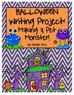 It's not too late to start this super fun writing unit for Halloween!  Have your students make a pet monster with this creative writing unit that covers 4 of the CCSS writing standards!  It includes Prewriting graphic organizing worksheets to help develop story ideas, build character descriptions, create a problem and solution, and organize events in the story. It also includes lined writing paper with monster-themed borders, teacher observation form, and revising and editing checklists.