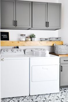 A Budget Sink Load Clothes DIY Laundry Room Storage Shelves Ideas Laundry room decor Small laundry room organization Laundry closet ideas Laundry room storage Stackable washer dryer laundry room Small laundry room makeover Laundry Room Remodel, Laundry Room Cabinets, Basement Laundry, Farmhouse Laundry Room, Diy Cabinets, Kitchen Cupboards, White Cabinets, Laundry Closet Organization, Laundry Room Organization