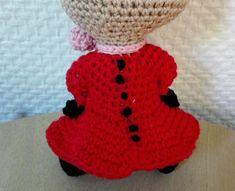 Little My from Moomin – free pattern – Katrine Klarer Chrochet, Knit Crochet, Crochet Hats, Little My, Little Things, Cardboard Toys, Thick Yarn, Magic Circle, Moomin