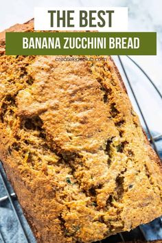 Zucchini recipes are in full swing! This is the best banana zucchini bread recipe around. Crisp on the outside, soft on the inside. A kid-favorite. #zucchinirecipes #zucchinibreadrecipe #bananazucchinibread #zucchinibananabread #createkidsclub