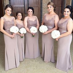 elegant lace appliques bridesmaid dresses with sleeves