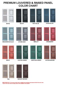 House Shutter Colors Front Door Doors Exterior Color Schemes