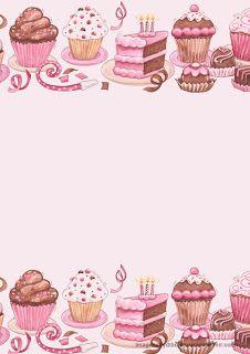 Invitacion con cupcakes