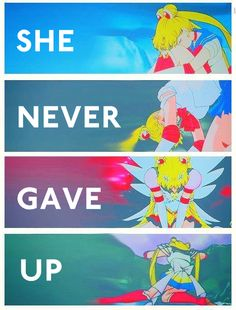 """She Never Gave Up."" Nope, she didn't, not even when it seemed all was lost and she was all alone."