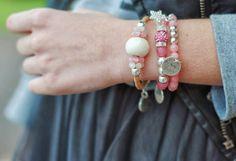 Joyas-Bisutería Rosa   By Neska Polita , Otoño-Invierno 2014. En el armario de lapetiteblonde desde el 28-3-2014 Beaded Bracelets, Jewels, Top, Fashion, Necklaces, Bangle Bracelets, Fall Winter 2014, Moda, Jewerly