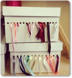 organizer ribbons, organisera band, hålla ordning på band, band dispenser