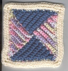 Four-Triangles Square Motif By BeMedina - Free Crochet Pattern - (undisthreadness.blogspot)