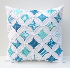 Decorative Pillow Cover Cathedral Windows Blue Turquoise Beach Nautical Seascapes Throw Pillow 18 Inches on Etsy, $52.98 CAD