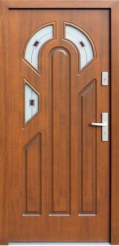 Drewniane wejściowe drzwi zewnętrzne do domu z katalogu modeli klasycznych wzór 537s3f+ds1