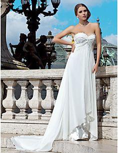 Lanting+Bride®+Funda+/+Columna+Tallas+pequeñas+/+Tallas+Grandes+Vestido+de+Boda+-+Moderno+y+Chic+Transparente+Corte+Corazón+Raso+con+–+MXN+$+7,751.25