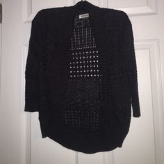dark grey knit cardigan! size small! excellent condition! buy on PayPal for $10 and get free shipping AND a tracking number Garage Sweaters Cardigans