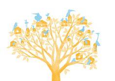 Ilaria Demonti on Behance #illustration #house #dream #travel #tree #birds