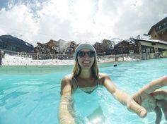 """C H I A R A L I T A on Instagram: """"Swimming slope-side 🏖 #GoPro"""""""
