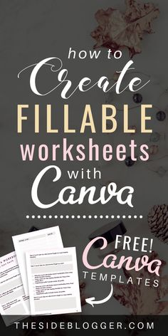 Learn how you can create beautiful checklists and worksheets with Canva, and make them fillable with PDFescape. Includes FREE Canva templates for you to start making workbooks today! Affiliate Marketing, Content Marketing, Digital Marketing Strategy, Online Marketing, Online Graphic Design, Graphic Design Tips, Identity Branding, Corporate Identity, Corporate Design