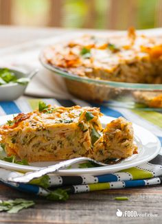 Crustless Zucchini Enchilada Quiche - healthy and easy. Use up your leftover zucchini. Eggs & egg whites, tortillas, all natural enchilada sauce or make-from-scratch recipe included. Only 118 calories & 3 WW points+. Recipe from iFOODreal.