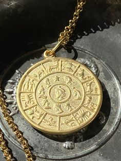 Excited to share this item from my #etsy shop: Zodiac Talisman Necklace, 18K Gold Plated or Oxidized Silver Zodiac Jewelry, Silver Prices, Ruby Gemstone, Oxidized Sterling Silver, Rare Antique, French Antiques, Hippie Boho, Necklace Lengths, 18k Gold